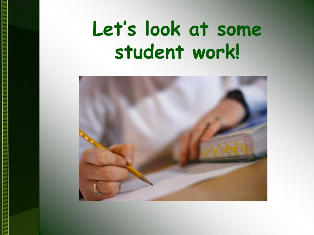 Let's look at some student work!