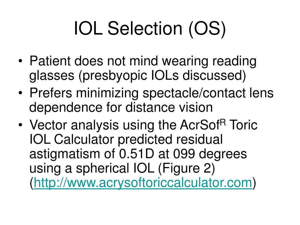 IOL Selection (OS)
