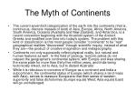 the myth of continents