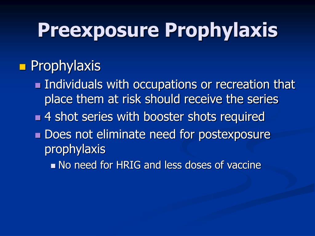 Preexposure Prophylaxis