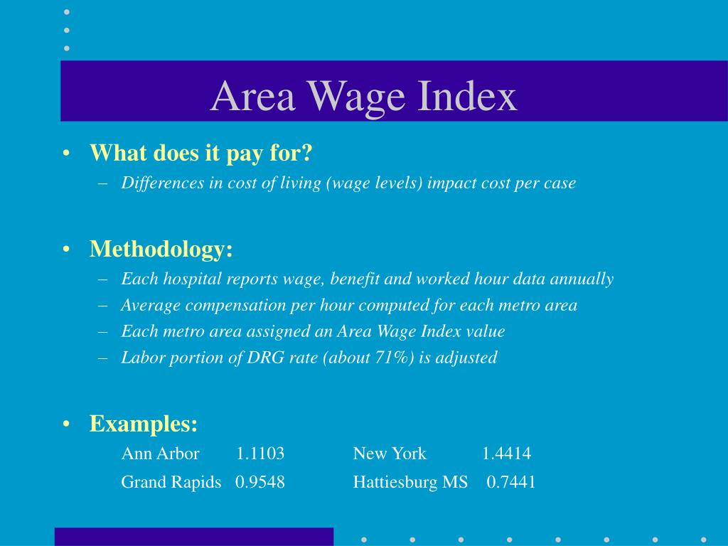 Area Wage Index