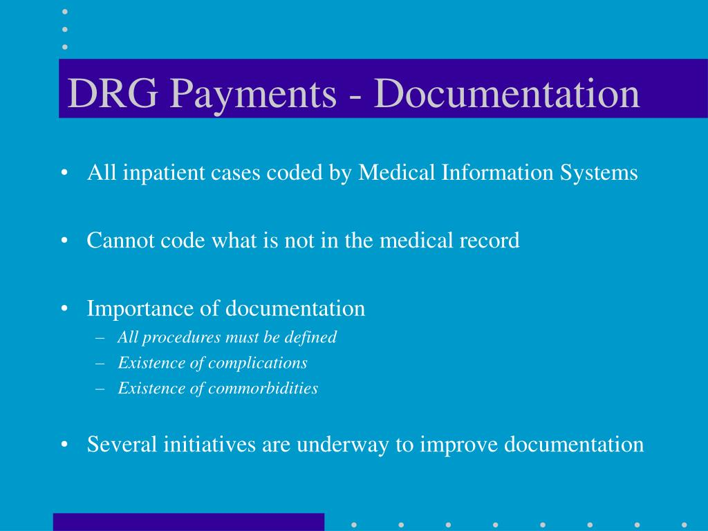 DRG Payments - Documentation