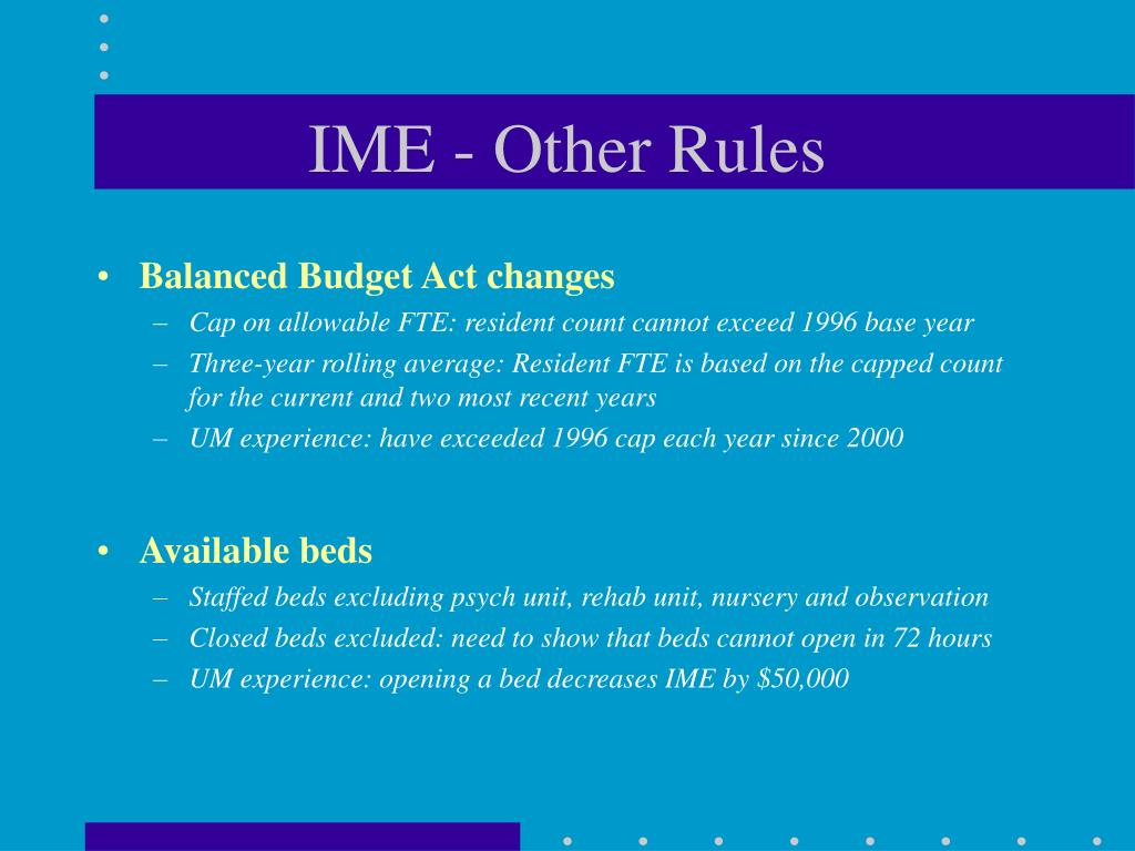 IME - Other Rules