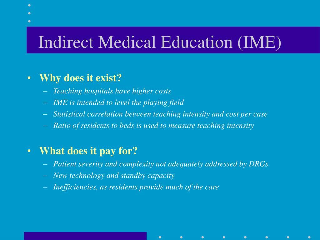 Indirect Medical Education (IME)