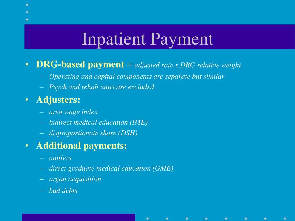 Inpatient Payment
