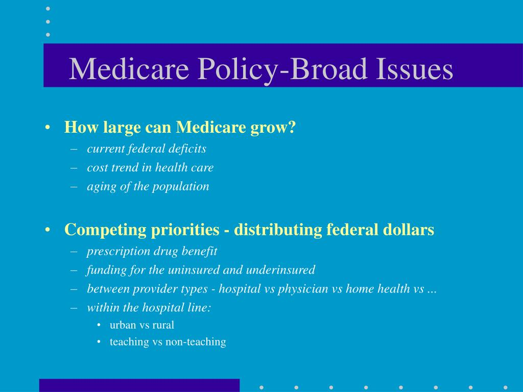 Medicare Policy-Broad Issues