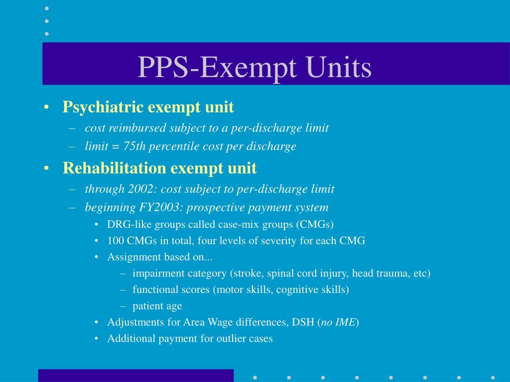 PPS-Exempt Units