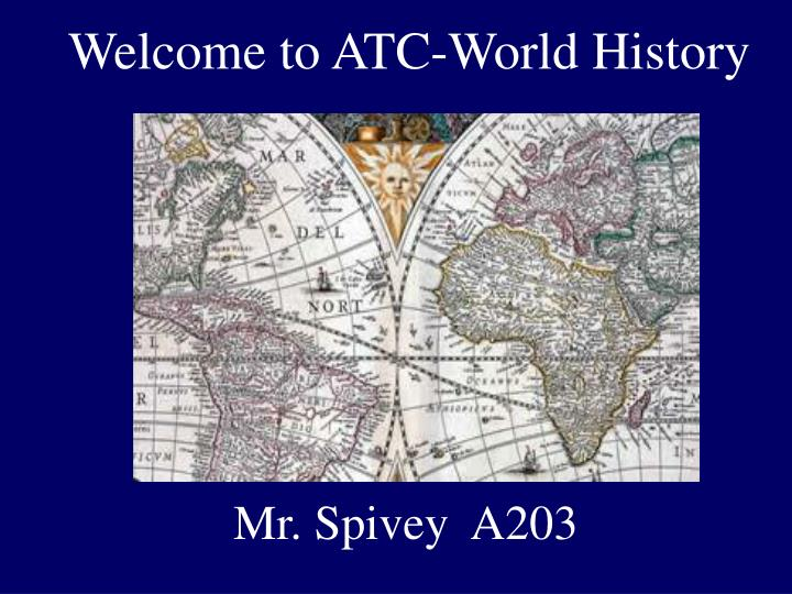 welcome to atc world history n.