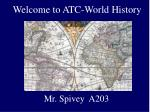 welcome to atc world history