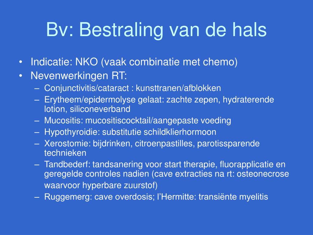 Bv: Bestraling van de hals