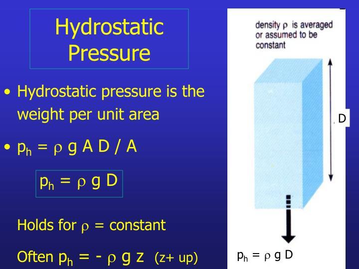 Hydrostatic pressure3