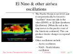 el nino other air sea oscillations