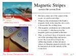 magnetic stripes across the ocean floor