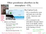 other greenhouse absorbers in the atmsophere co 2