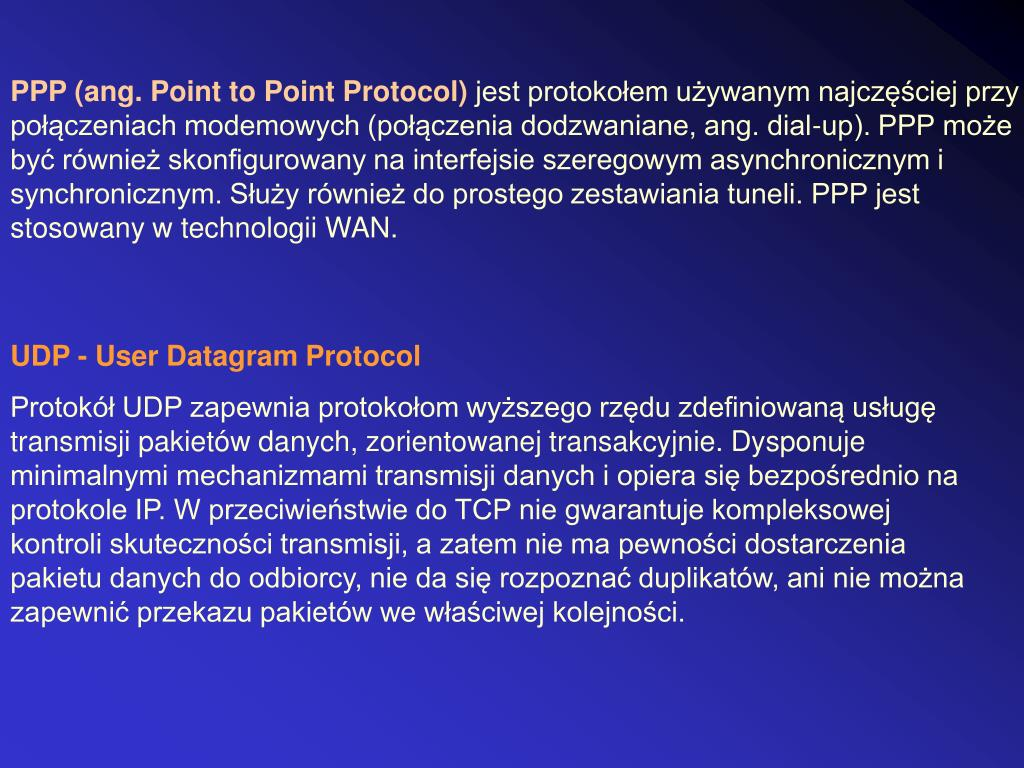 PPP (ang. Point to Point Protocol)