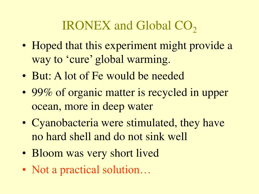 IRONEX and Global CO