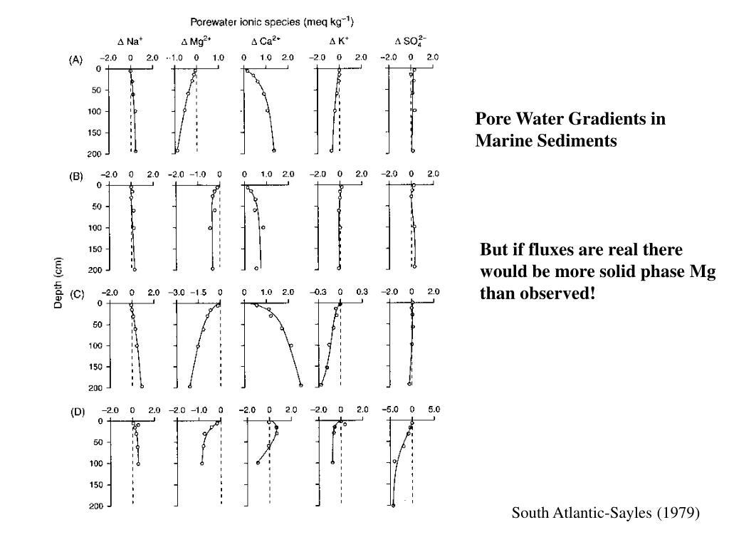 Pore Water Gradients in
