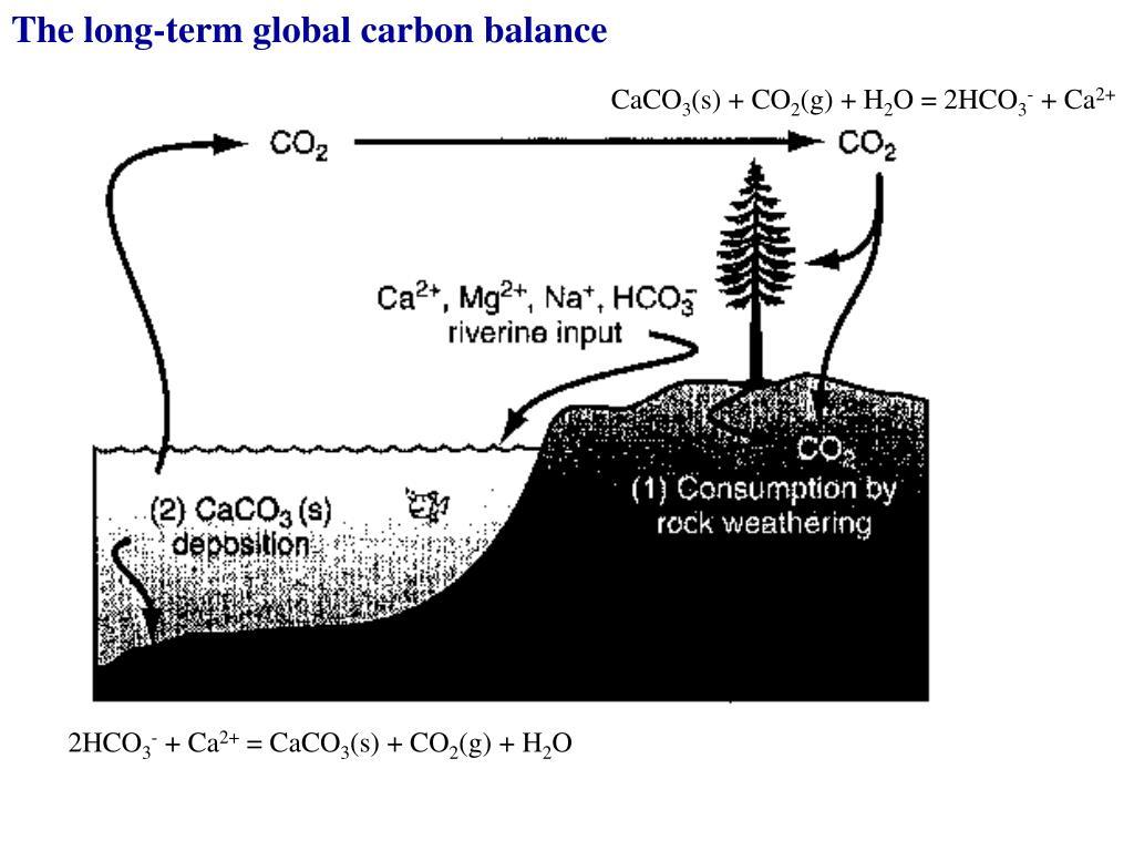 The long-term global carbon balance