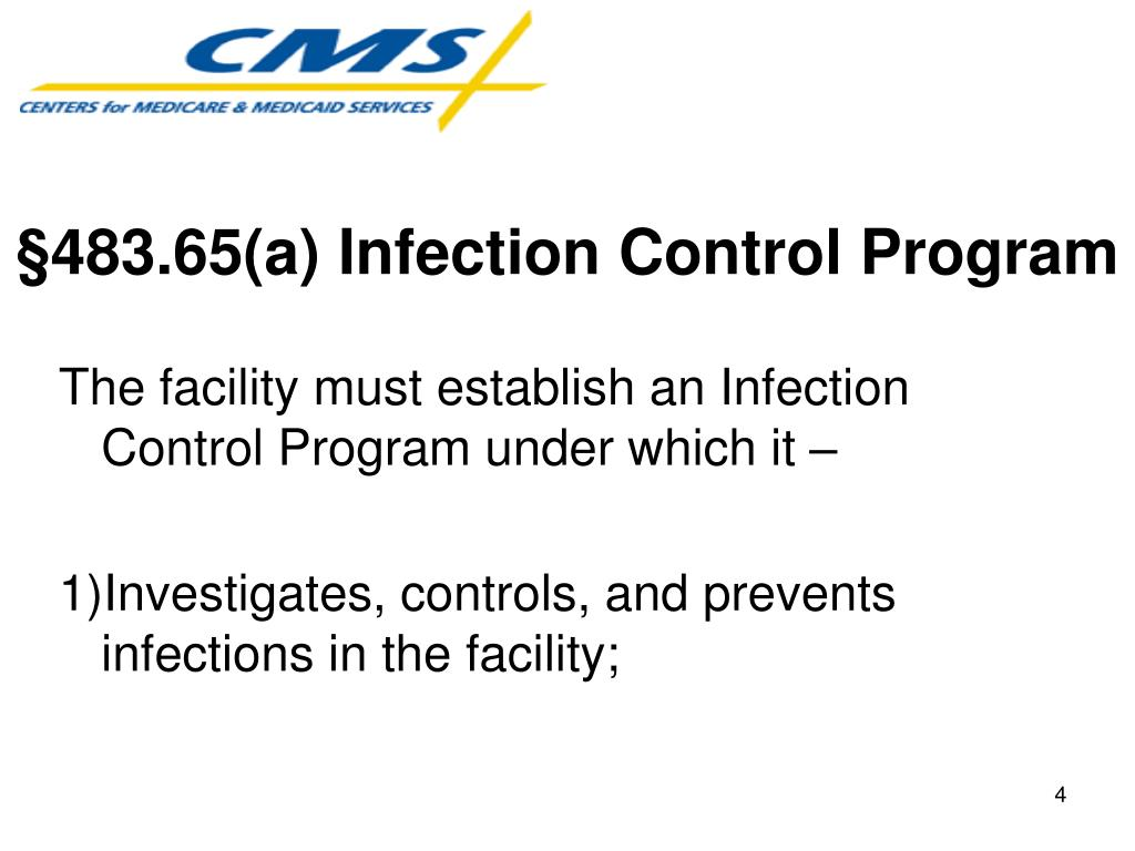 §483.65(a) Infection Control Program