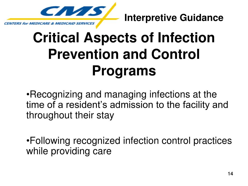 Critical Aspects of Infection Prevention and Control Programs