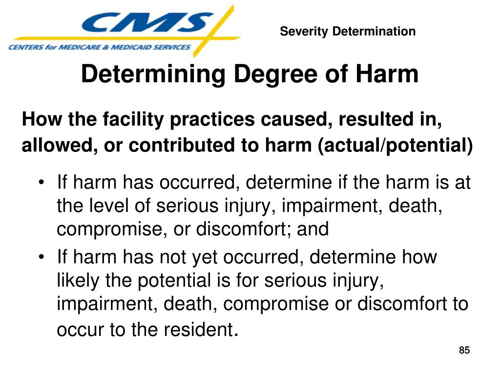 How the facility practices caused, resulted in, allowed, or contributed to harm (actual/potential)