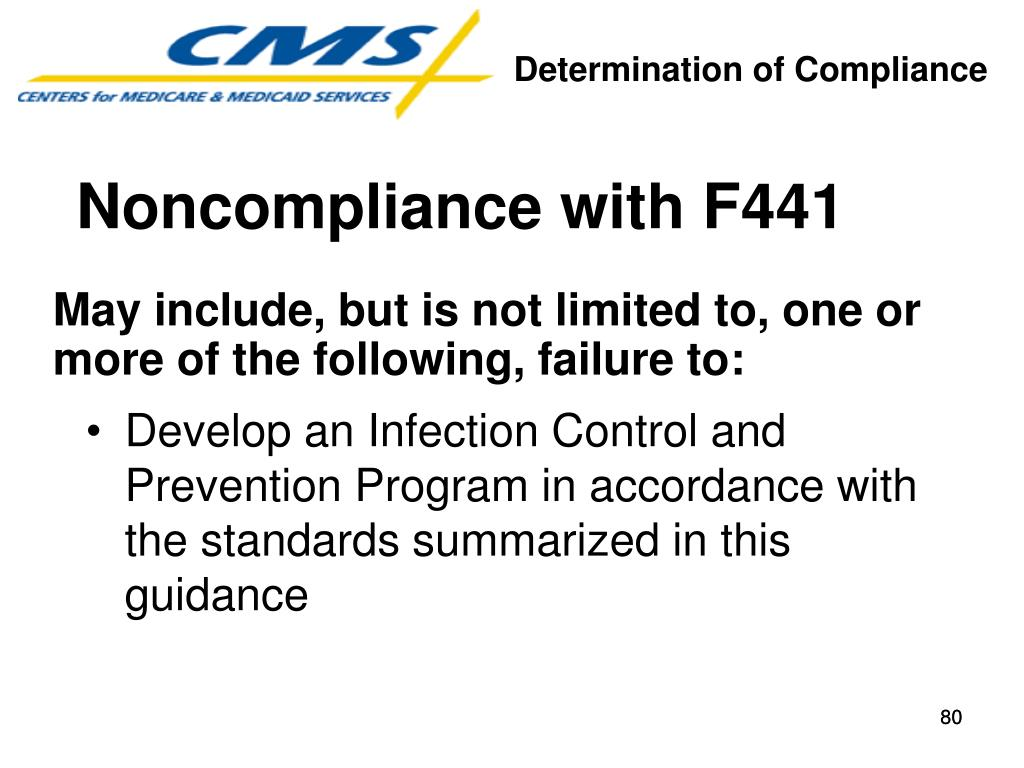 Noncompliance with F441