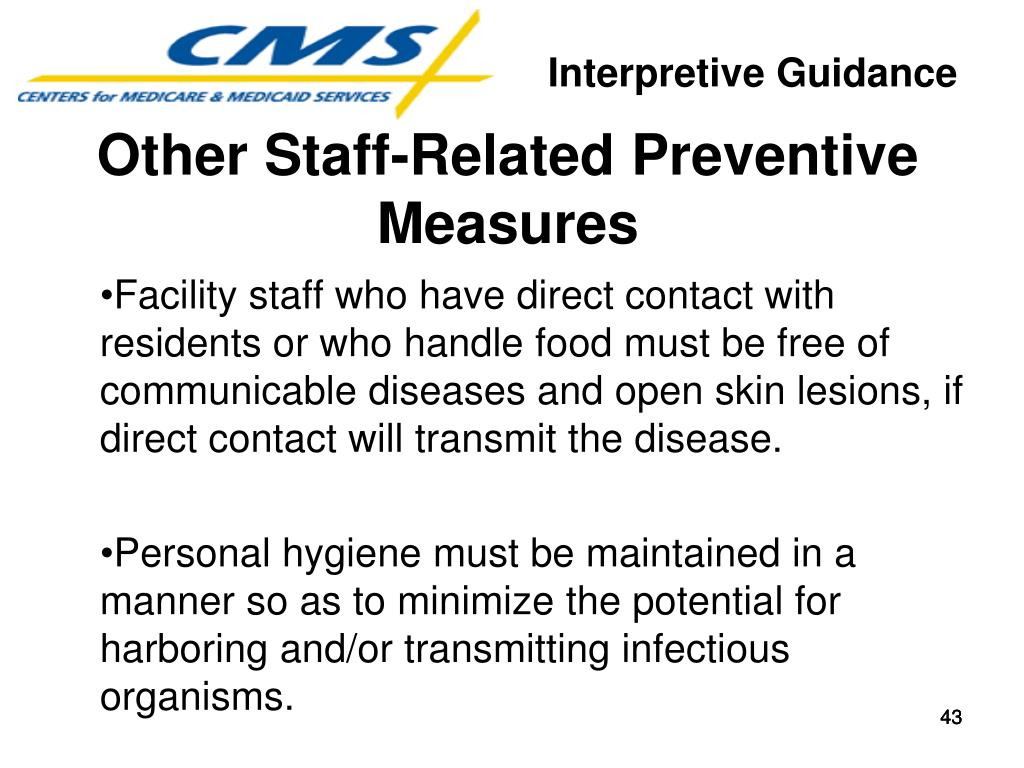 Other Staff-Related Preventive Measures