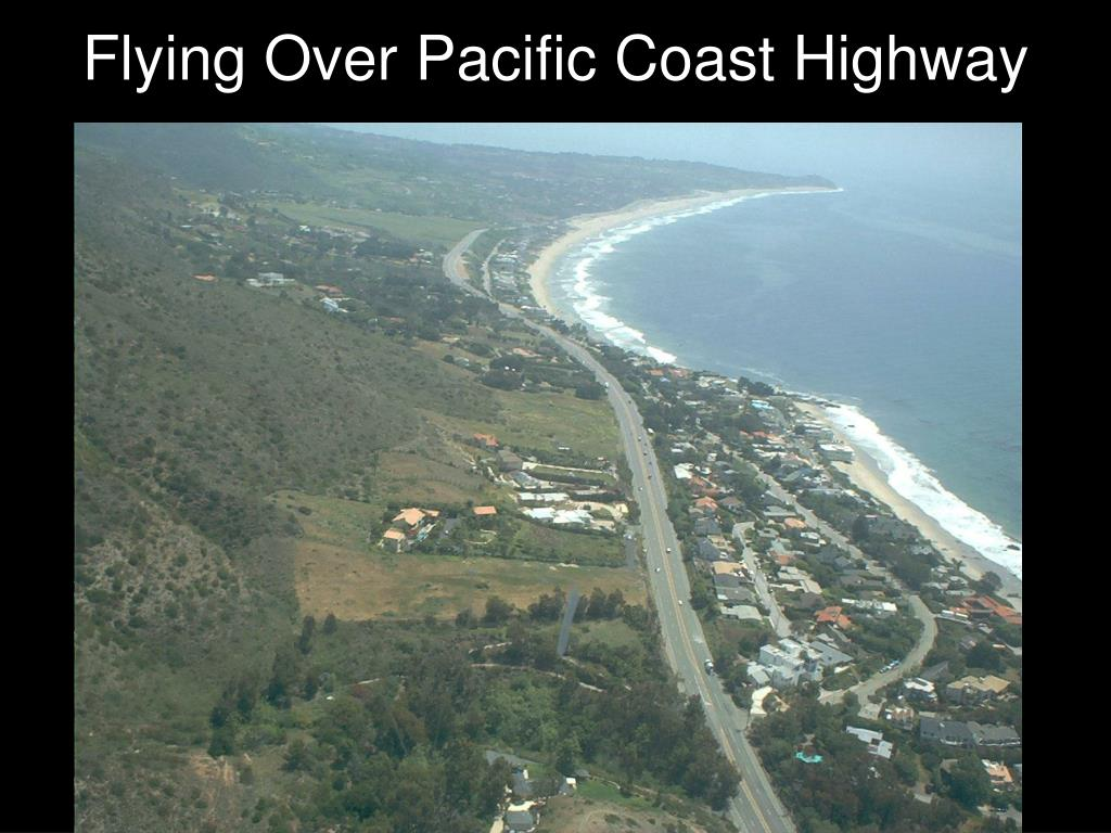 Flying Over Pacific Coast Highway