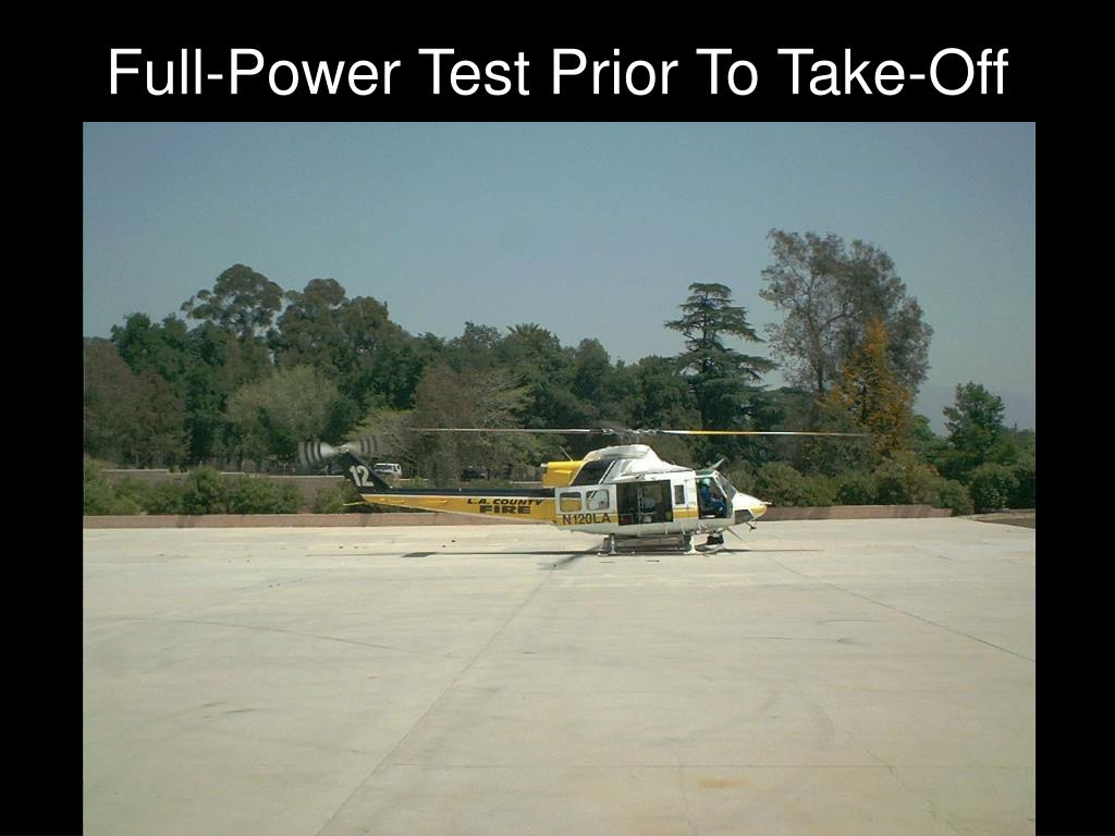 Full-Power Test Prior To Take-Off