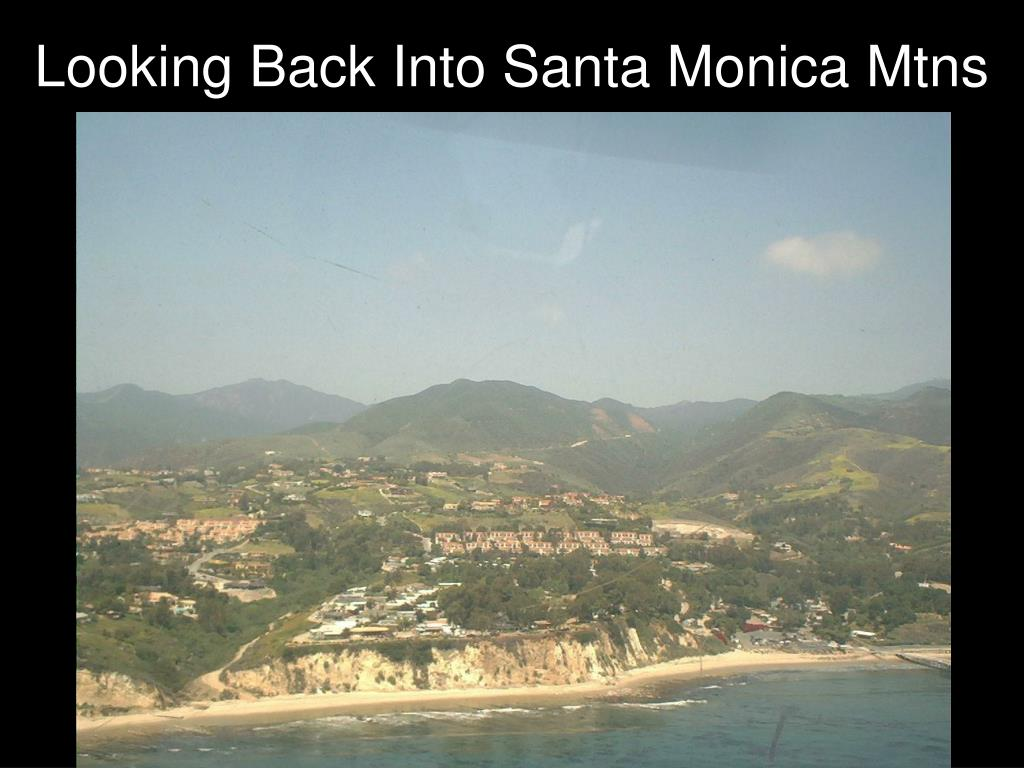 Looking Back Into Santa Monica Mtns