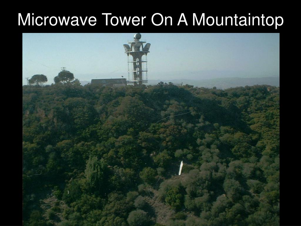 Microwave Tower On A Mountaintop