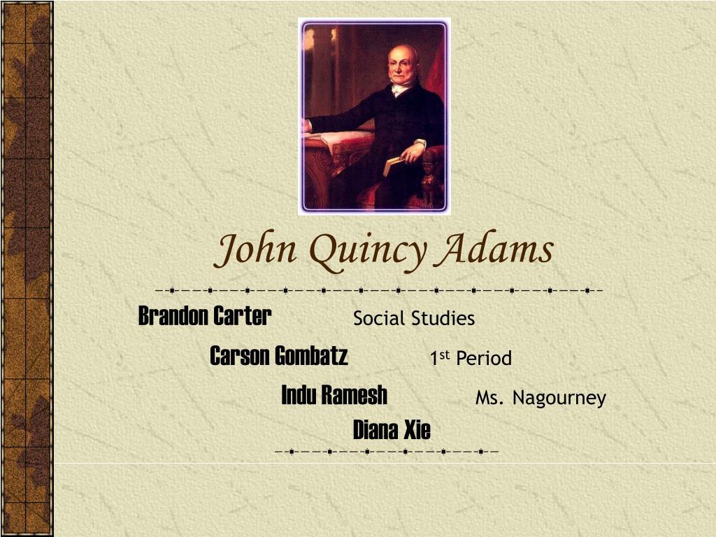 john quincy adams l.