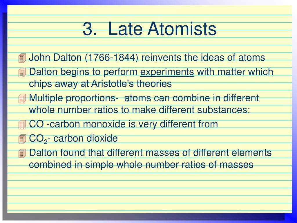 3.  Late Atomists