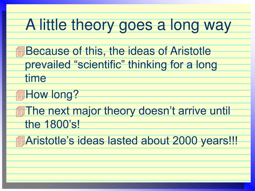 A little theory goes a long way