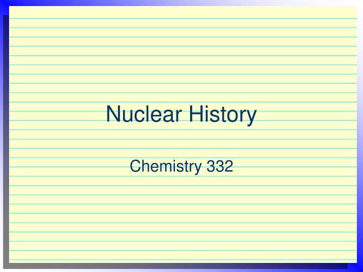Nuclear history