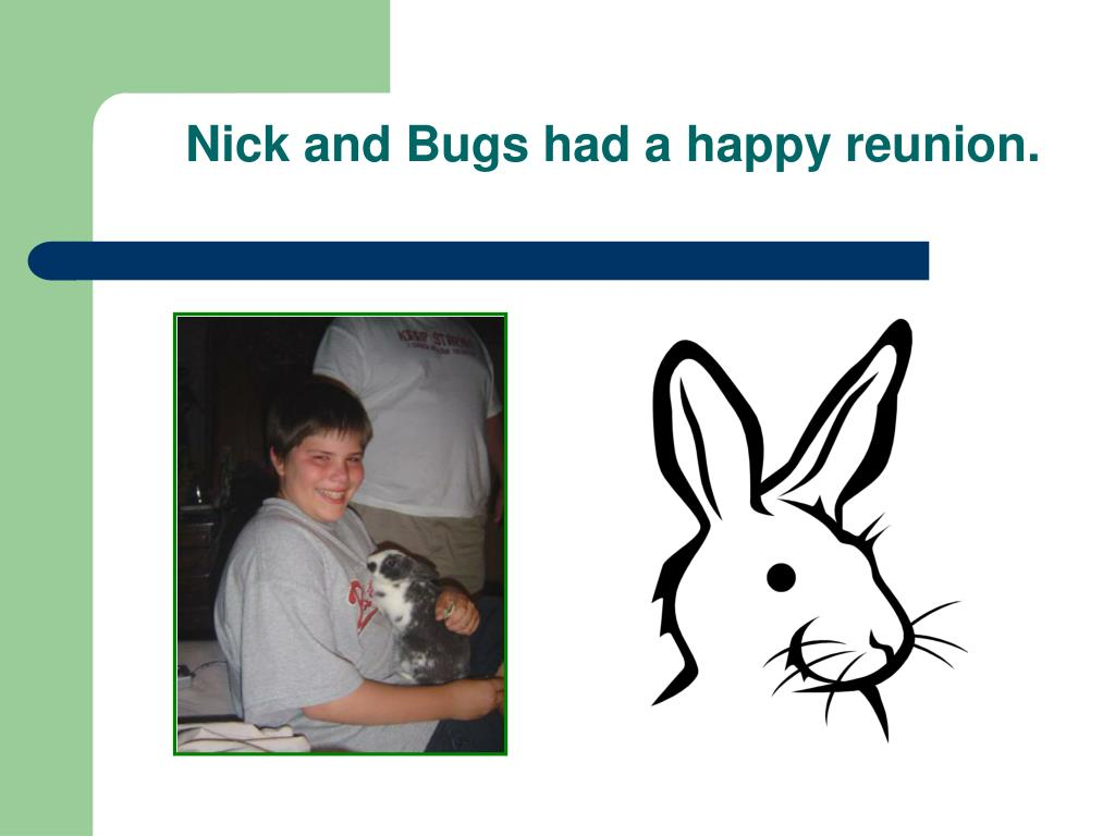 Nick and Bugs had a happy reunion.