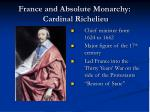 france and absolute monarchy cardinal richelieu