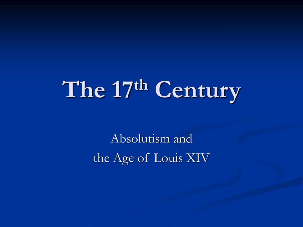 the 17 th century l.