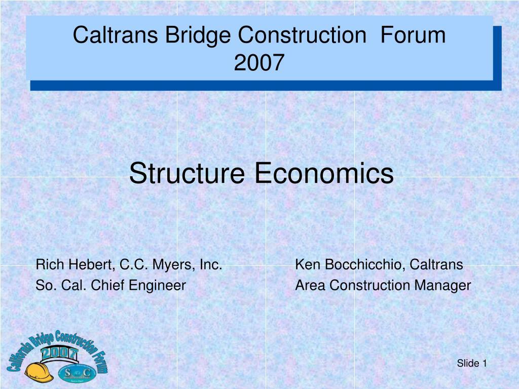 Caltrans Bridge Construction  Forum