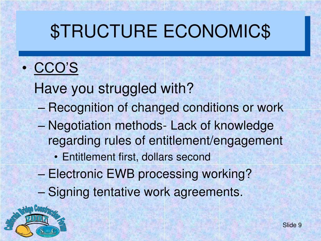 $TRUCTURE ECONOMIC$