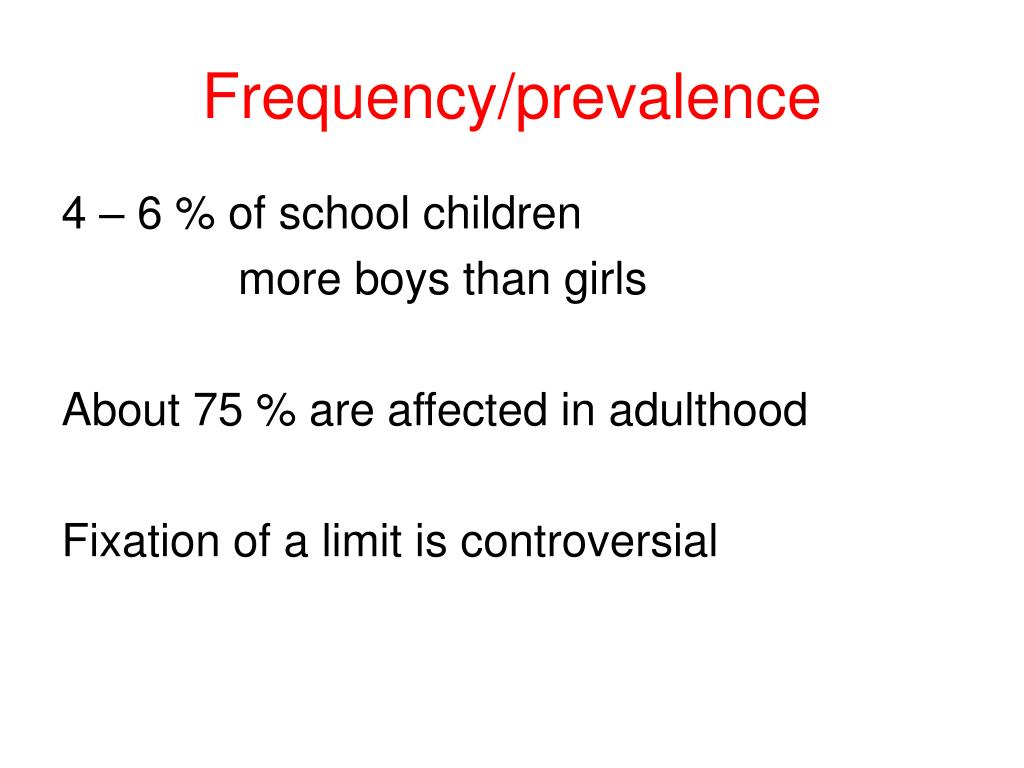 Frequency/prevalence