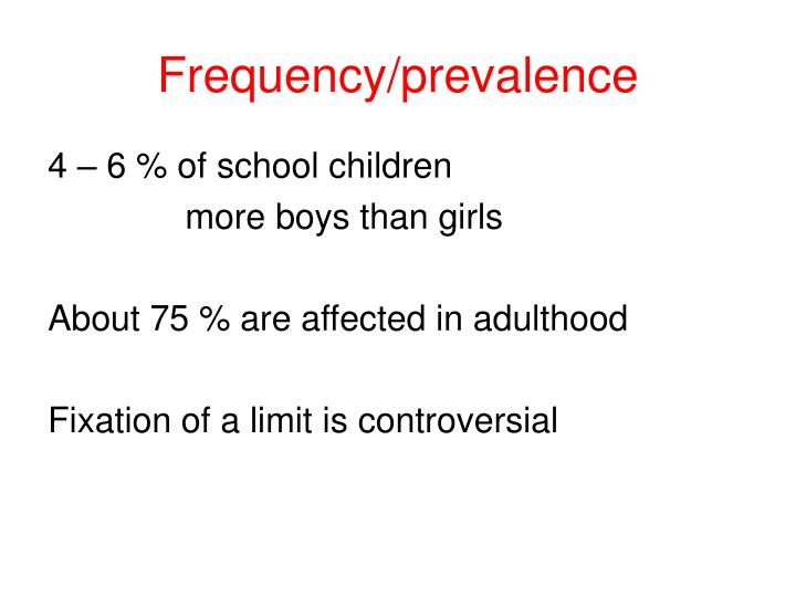 Frequency prevalence