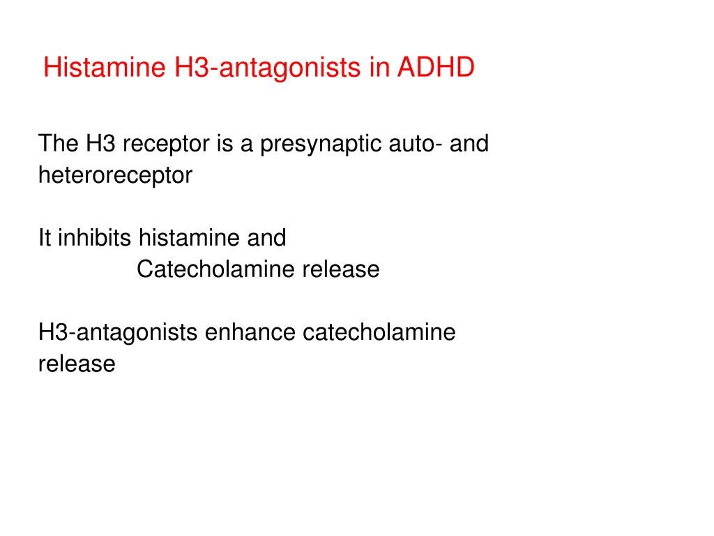 Histamine H3-antagonists in ADHD