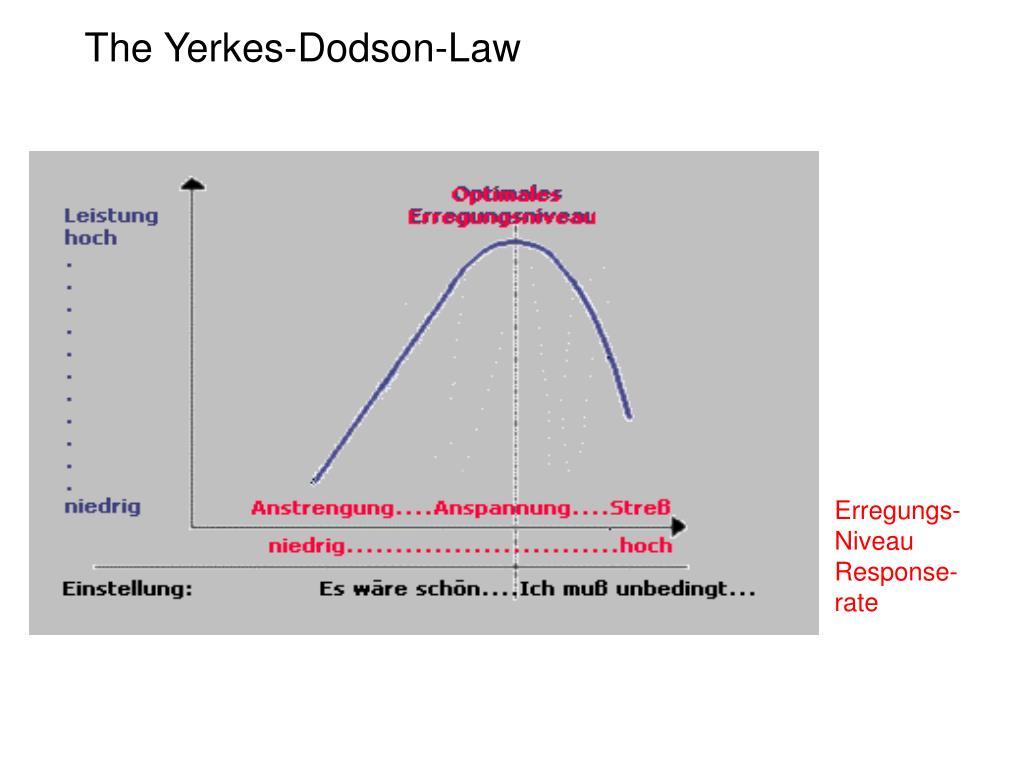The Yerkes-Dodson-Law