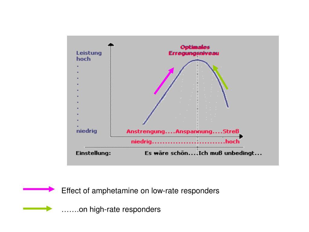 Effect of amphetamine on low-rate responders