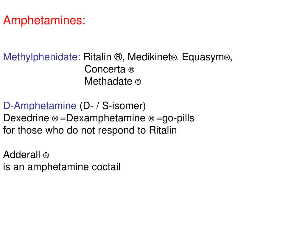 Amphetamines: