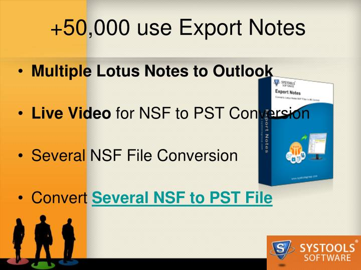 50 000 use export notes