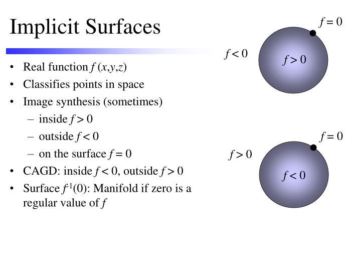 Implicit surfaces2