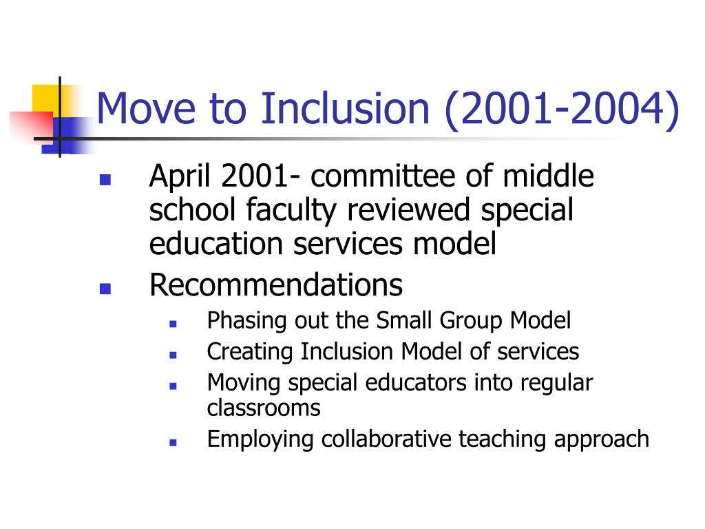 Move to Inclusion (2001-2004)