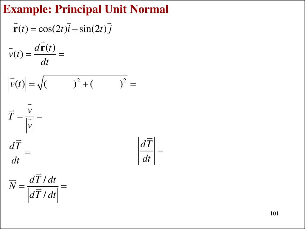 Example: Principal Unit Normal